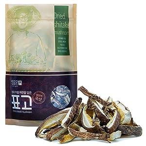 Organic Dried Shiitake Mushroom Slices [Korean Food], Sun Dried, Mountain Grown, Eco-Friendly Cultivation [ JRND Foods ] 500g