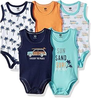 Hudson Baby Sleeveless Bodysuits Boy 5-Pack d31f575a87a7