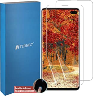 TERSELY Screen Protector for Samsung Galaxy S10 Plus, [2 Pack] Full Coverage HYDROGEL Aqua Screen Protector Flexible Full ...