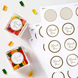 ملصقات Avery دائرية، أبيض مطفي مع حواف ذهبية معدنية، بقطر 2 بوصة، 120 ملصق دائري فارغ (22876)
