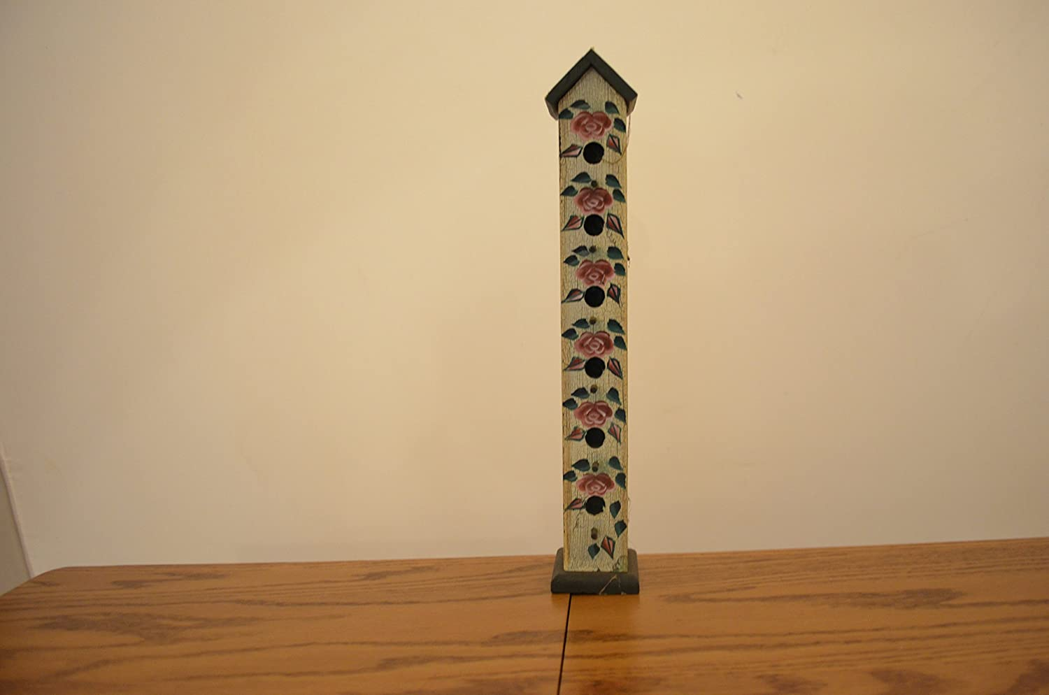 Amish Wares Price Max 63% OFF reduction Wood Birdhouse with perches and Holes Roses Six