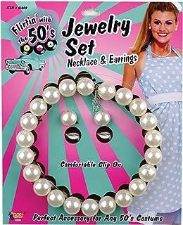 Forum Novelties Pearl Necklace Earrings