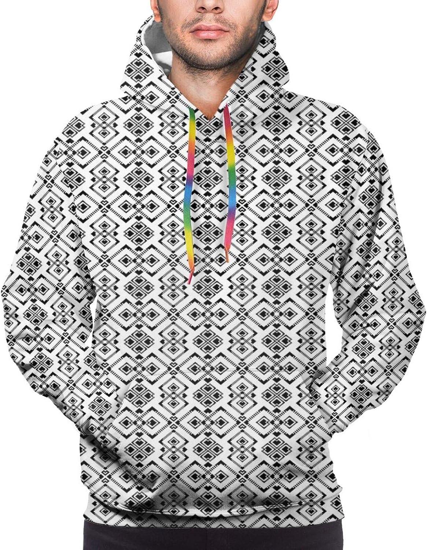 Men's Hoodies Sweatshirts,Constellation of Zodiac and Planets Original Coordinates of Celestial Body Pattern