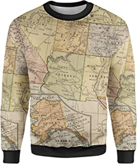 Rainbow Rules Vintage South West USA Map Mens Sweatshirt