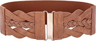Women 50s Elastic Stretchy Retro Wide Waist Cinch Belt