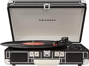 Crosley Cruiser Deluxe Vintage 3-Speed Bluetooth Suitcase Turntable, Chalkboard