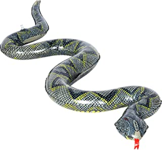 The Dreidel Company Inflatable Snake Creepy Crawly Cinyl Snake Party Pool Fun Event Decoration, 4