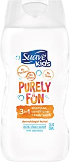 Suave Kids 3 in 1 Shampoo Conditioner Body Wash, Purely Fun Moisturizing, 12 oz