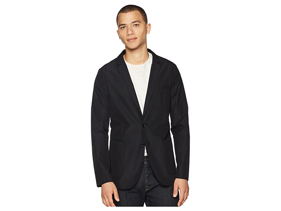 Calvin Klein Seersucker Packable Blazer (Black) Men