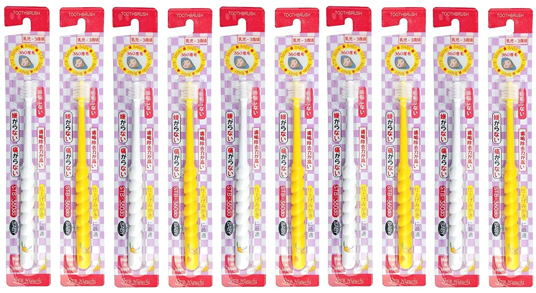 インフルエンザ狂うトリクル360度歯ブラシ STB-360do ベビー 10本セット(カラーはおまかせ)