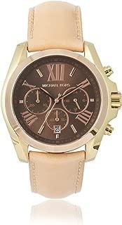 Women's MK5630 Bradshaw Beige & Brown Stainless Steel Watch