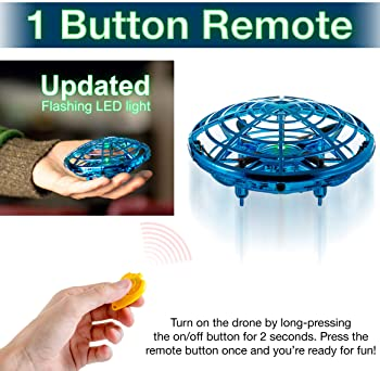Hand Operated Mini Toy Drone for Kids, Upgraded UFO Flying Ball Toy with LEDs, USB Rechargeable Indoor Drone, Most Po...