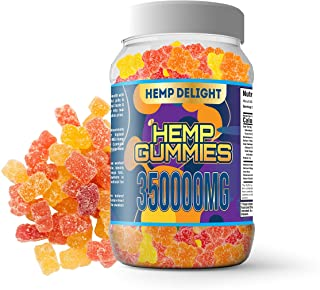 Hemp Gummies for Pain and Anxiety 350,000mg - Stress, Insomnia & Anxiety Relief - Made in USA - Tasty & Relaxing Gummies f...