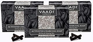 Vaadi Herbals Pvt Ltd Value Pack Of 3 Activated Charcoal Soap (3 X 75 Gms), 75 g