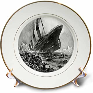 3dRose cp_80330_1 1912 Artists Rendering of Sinking of The Titanic-Porcelain Plate, 8-Inch