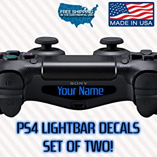 2x Ps4 PlayStation Controller Lightbar Custom Decal Your Name Dualshock 4 Text LED Personalized LIGHT BAR Font gamertag gamer tag