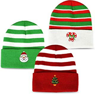 TeeHee Fun and Fashionable Cuffed Fold Beanie Hat 3-Pack