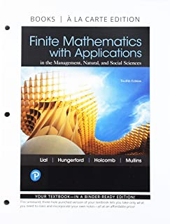 Finite Mathematics with Applications, Books a la Carte and Mylab Math with Pearson Etext -- 24-Month Access Card Package