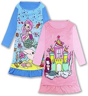 فساتين نوم للبنات والأطفال بيجامة الأميرة فستان النوم ثوب النوم 3-10 سنوات
