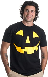 Glow in The Dark Jack O' Lantern Face | Halloween Pumpkin Costume Unisex T-Shirt