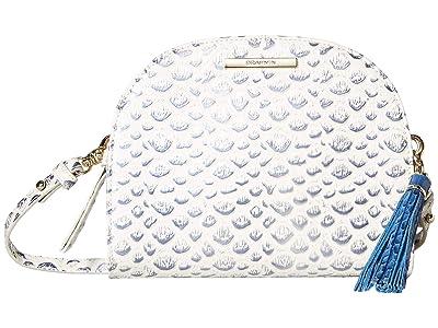 Brahmin Leah Crossbody (Creme) Cross Body Handbags