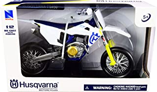 FS450 White and Blue 1/12 Diecast Motorcycle Model by New Ray 58163