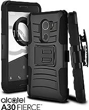 Alcatel A30 Fierce Case, A30 Walters, Alcatel REVVL Case, Celljoy [Ultra Rugged Hybrid] ((Shockproof)) Reinforced Bumper [Heavy Duty] Protection Kickstand Cover [Locking Belt Clip Holster] (Black)