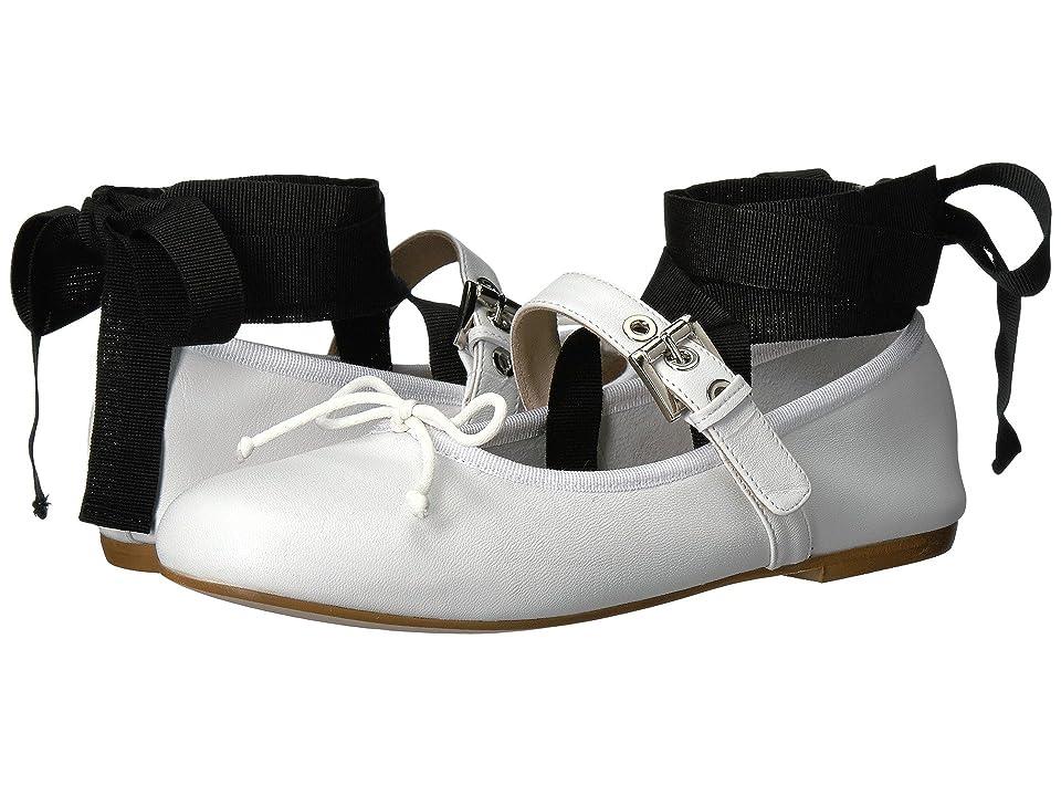 Massimo Matteo Ballerina with Strap (White) Women