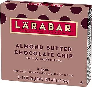 Larabar Gluten Free Bar, Almond Butter Chocolate Chip, 5-1.6 oz Bars (8 Boxes), Whole Food Gluten Free Bars, Dairy Free Snacks