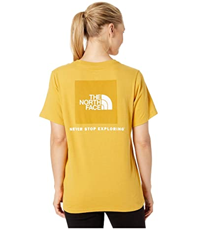The North Face Short Sleeve Red Box T-Shirt (Golden Spice/Golden Spice) Women