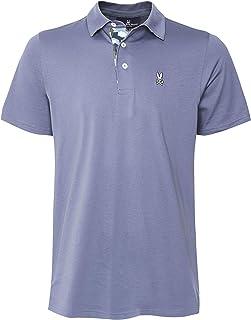 Psycho Bunny Men's Pima Cotton Rowcross Polo Shirt Navy