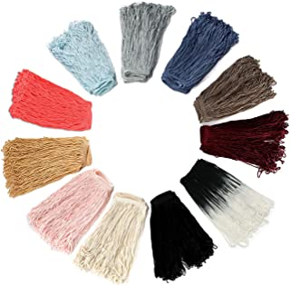 Rayon Silky Loop Fringe. Dress Fringing, Solid & Two Tone Colours. Costume Chainette Tassel Trimming, Soft Drape by Neotrims,10,15 & 25cms Long. Garment Edge Trim, Home Décor, 12 Colours.