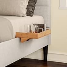 Lavish Home Bedside Shelf – Eco-Friendly Bamboo Modern Clamp-on Floating Nightstand and Bedroom Accessories Tray for Home,...