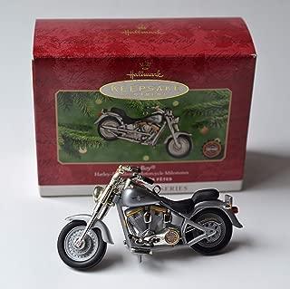 Hallmark Ornaments 2000 Fat Boy Harley Davidson Motorcycle Milestones 2nd in Series