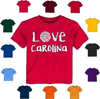 Future Tailgater Carolina Loves Basketball Baby-Toddler Tshirt