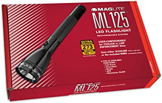 MagLite ML125 230V LED Rechargeable Flashlight System, Black