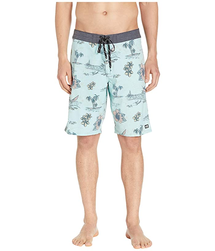 Salty Crew Compass Boardshorts (Mint) Men