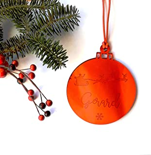 Bolas de Navidad de metacrilato espejo modelo Santa Claus personalizadas ornamento para el árbol de Navidad