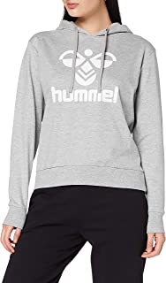 hummel Classic Logo Hoodie con Capucha, Mujer, Gris, Small