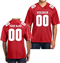 wisconsin football jersey custom