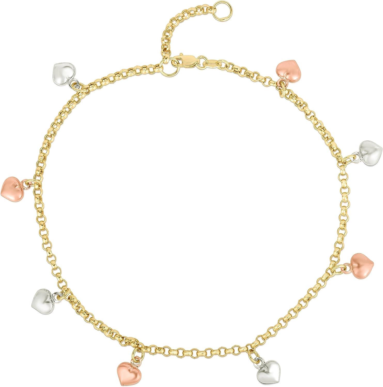 Floreo 10k Fine Gold Heart Charm Houston Mall Long Beach Mall Extendable - 10 9
