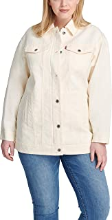 Levi's Women's Plus Size Oversized Long Cotton Trucker Jacket
