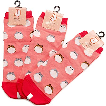 3足セット ハムスターⅡ レディース ソックス Hamster Socks ペットとアニマルソックス Pet & Animal Socks SD-3008 ハムコ ペットラバーズ