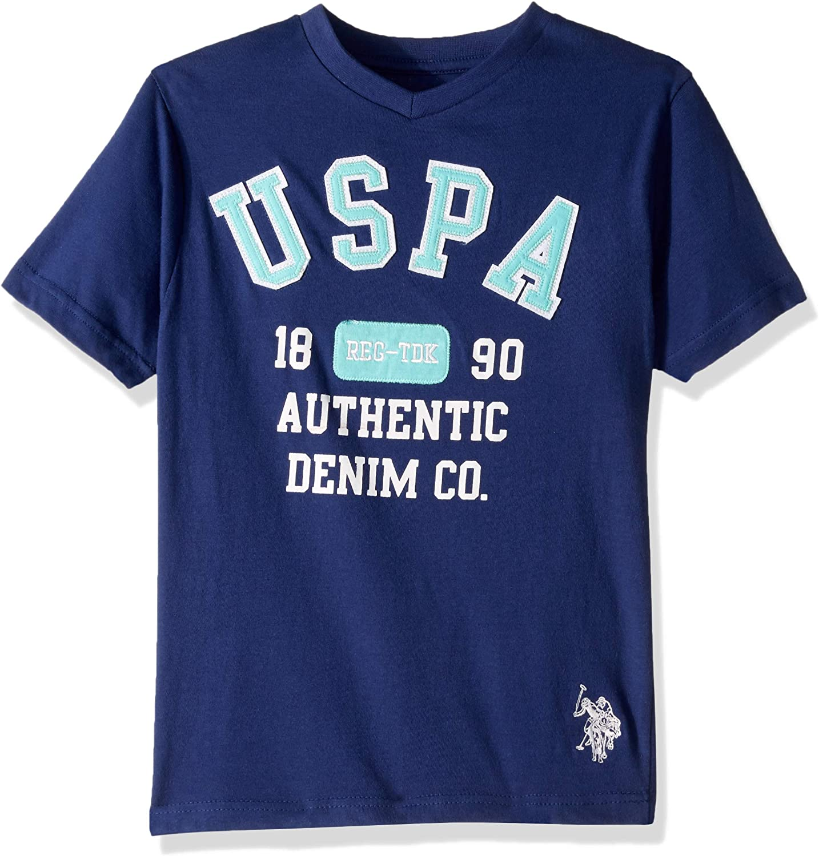 U.S. Polo Assn. Boys' Short Sleeve Graphic V-Neck T-Shirt