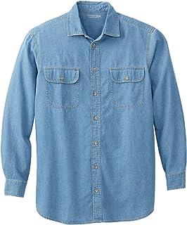 Boulder Creek by Kingsize Men's Big & Tall Long-Sleeve Button Down Shirt