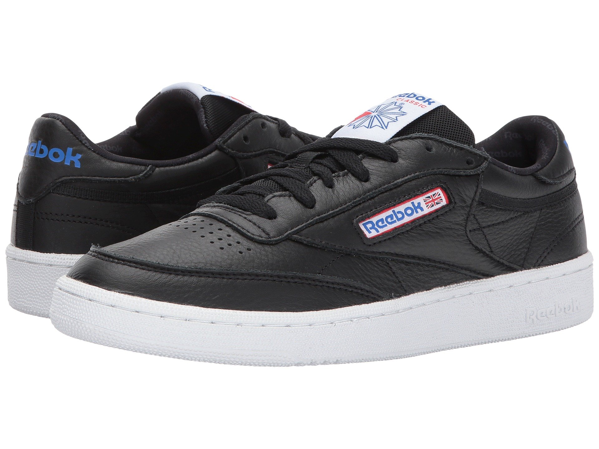 91aa429886a Reebok Club C 85 So In Black White Vital Blue Primal Red Ash Grey ...