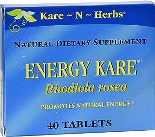 Kare-N-Herbs Energy Kare - Promote Natural Energy - 40 Tablets