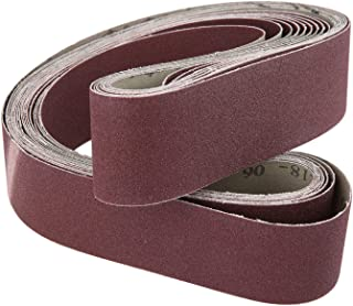 48x2 Inch 120 Grit Aluminum Oxide Sanding Belt Knife Makers Coarse Grit Abrasive Sanding Belts Polishing Accessories 10-Pack
