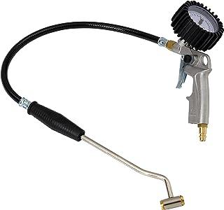 Reifenfüller 0 10 bar / 145 psi mit Tankstellenstecker, Manometer Güteklasse 1.6