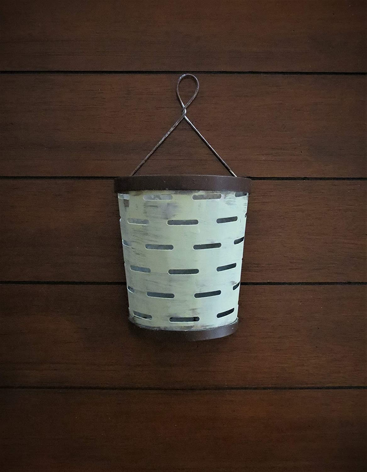 Ranking Ranking TOP1 TOP19 Galvanized Metal Olive Bucket Wall Handpaint Sconce Planter or